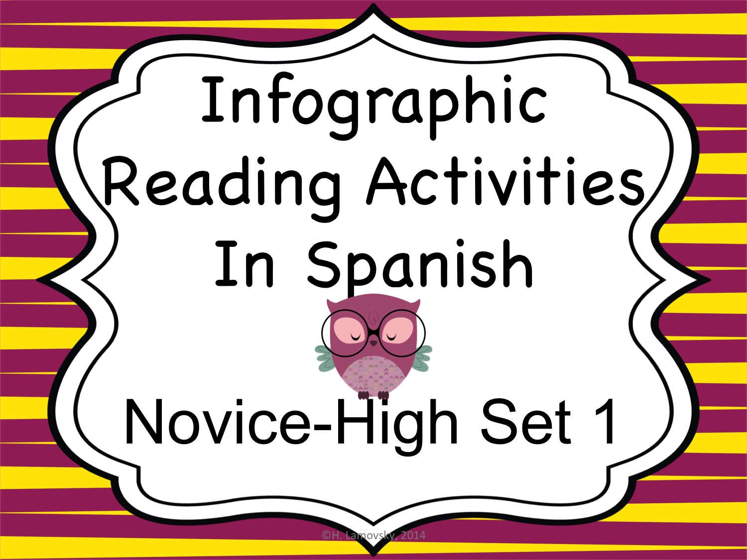 Spanish Infographic Reading Activities - Novice High