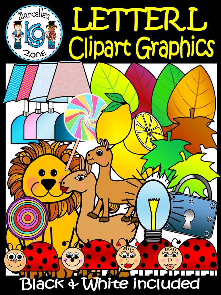 Letter L- Clipart Graphics- Commercial & Personal Use